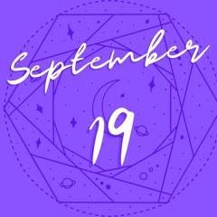 Horoscope for September 19th