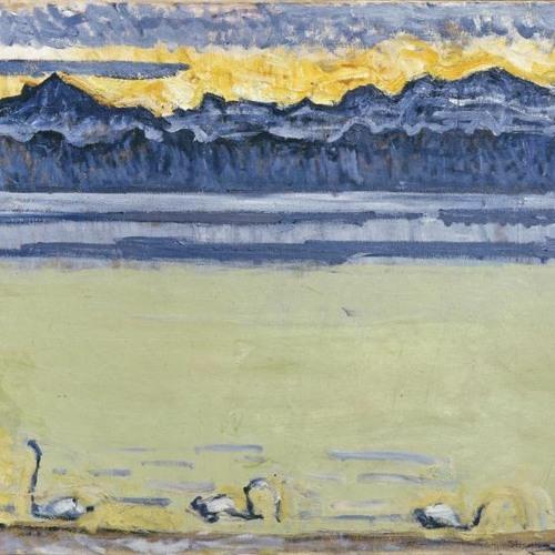 Visite Descriptive. Le Lac Leman et le Mont-Blanc avec Cygnes - Ferdinand Hodler