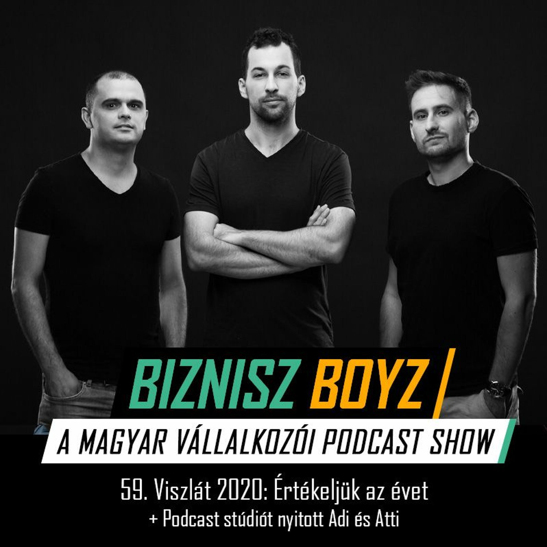 59. Viszlát 2020: Értékeljük az évet + Podcast stúdiót nyitott Adi és Atti | Biznisz Boyz Podcast