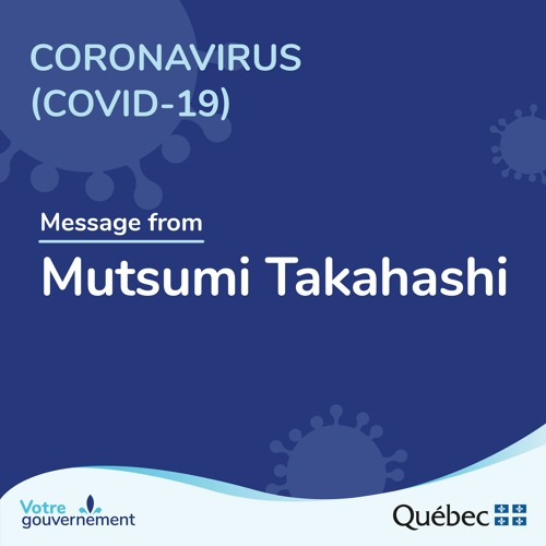 Message from Mutsumi Takahashi about COVID-19