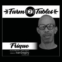 Farm 2 Tables S2. Harvest2 (Frique)