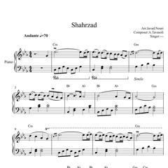 نت موزیک بی کلام فیلم شهرزاد برای پیانو