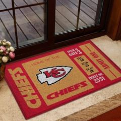 NFL Kansas City Chiefs Team Ticket Runner Doormat