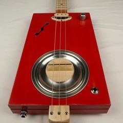Old Red Rezo 3 String Cigar Box Guitar CBG #2186