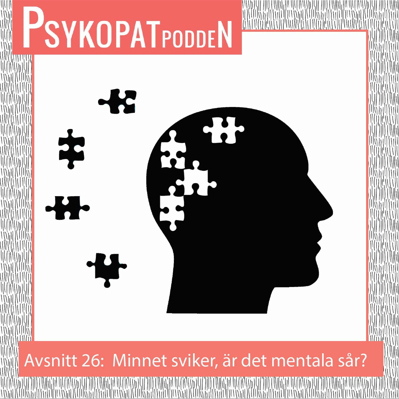Avsnitt 26: Minnet sviker, är det mentala sår? Psykologen Monica Emanell svarar