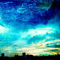 星降る夜の街を背に