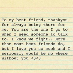 Letter To My Best Friend