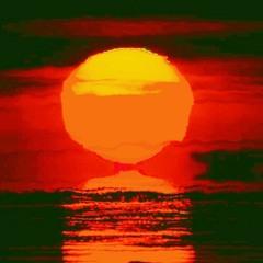 sunset, melt, down