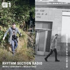 Rhythm Section Radio - Nicola Cruz  - 25 - 02 - 2021