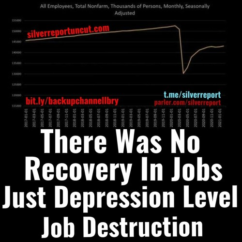 There Was No V-Shaped Recovery In Jobs, Just Depression Level Job Destruction, Millions Are Missing