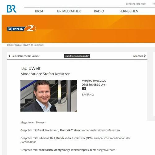 Bayern 2 Radiowelt Videokonferenzen 19.03.2020