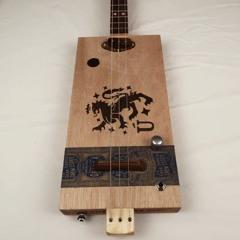 Grade A 3 String Cigar Box Guitar CBG #2189