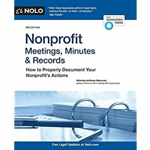 ^#DOWNLOAD@PDF^# Nonprofit Meetings  Minutes & Records How to Properly Document Your Nonprofit's Ac