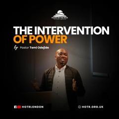 An Intervention of Power - Pastor Temi Odejide - Sunday 25 Apr 2021