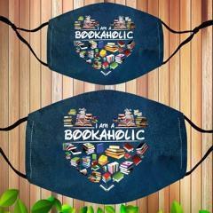 I am a bookaholic face mask
