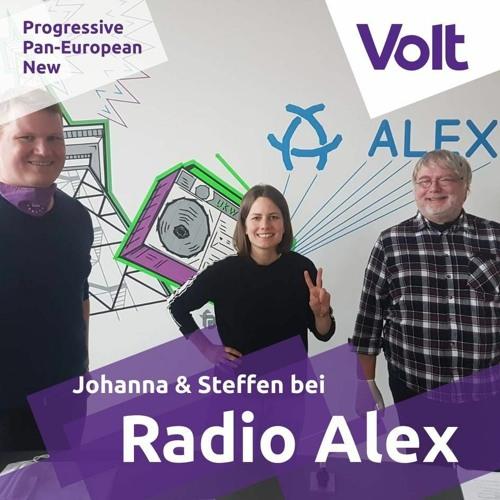 Rolf Gänsrich interviewt Johanna und Steffen von Volt Berlin