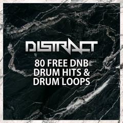 DISTRACT - 80 FREE DNB DRUM HITS & DRUM LOOPS