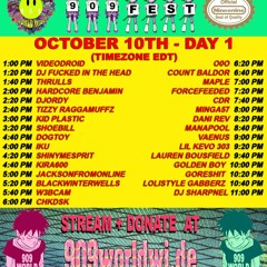 DJ set for 909 worldwide 10/10/20