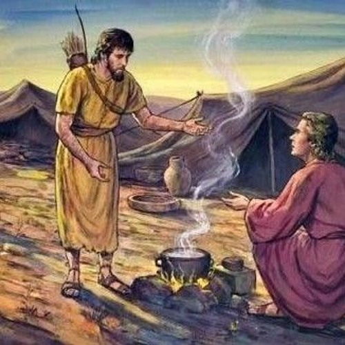 Esau sold his birthright for a bowl of stew (Gen 25-26) by S4prayer3