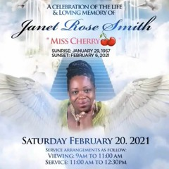 A TRIBUTE TO THE GREAT MRS JANET ROSE SMITH AKA MISS CHERRY