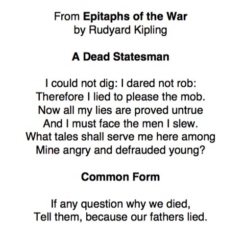 216 From 'Epitaphs Of The War' by Rudyard Kipling