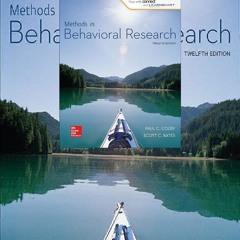 Pdf⚡(read✔online) Methods in Behavioral Research (B&B Psychology) Standalone Book