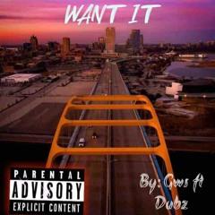 Want it Ft. Dubz (prod. G.W.S)