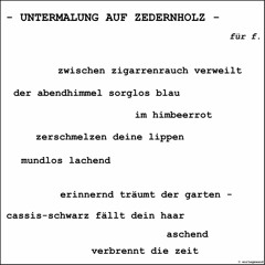 UNTERMALUNG AUF ZEDERNHOLZ - Andreas Koellner