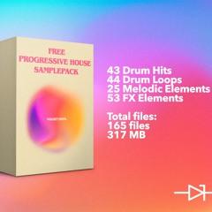 """Free Progressive House Sample Pack """"Golden Hour"""""""