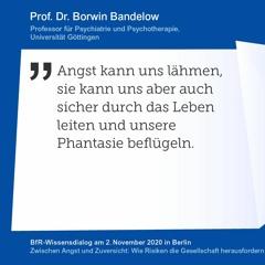 "Professor Dr. Borwin Bandelow [BfR-Wissensdialog: ""Zwischen Angst & Zuversicht]"