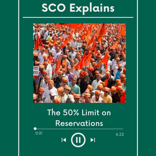 SCO Explains the 50% Limit on Reservations From Balaji to Sawhney (2/4)