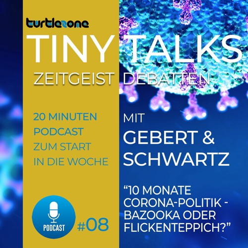 Turtlezone Tiny Talks - 10 Monate Corona-Politik - Bazooka oder Flickenteppich?