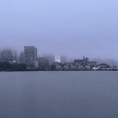 Sounds of Waves & Rain on Lake Ontario After Dusk (Binaural Audio)