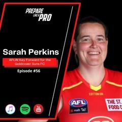 #56 - Sarah Perkins AFLW Key Forward for the Goldcoast Suns
