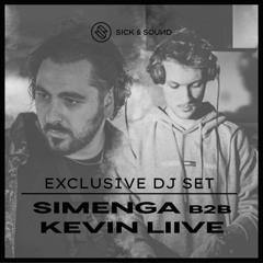 Tech House Mix with SIMENGA B2B KEVIN LIIVE #sicksessions