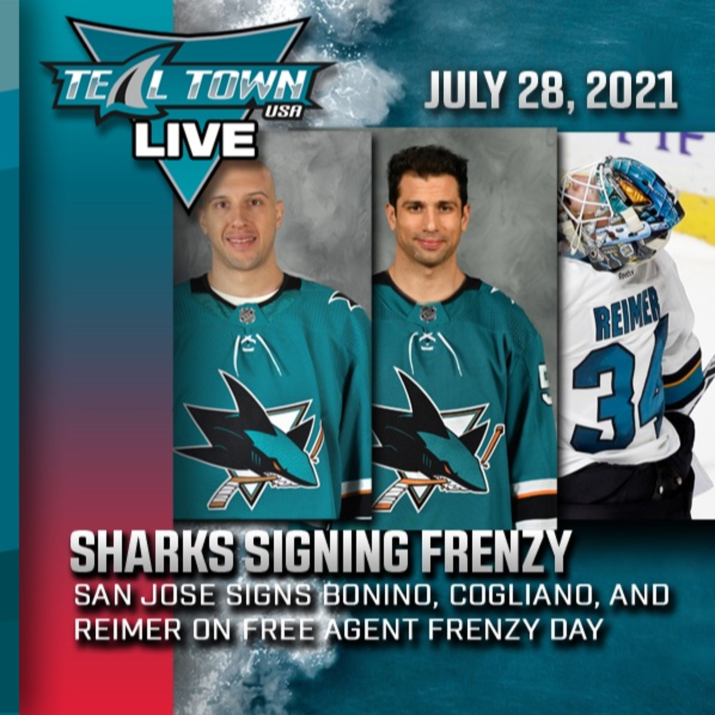 Sharks Signing Frenzy: Bonino, Cogliano, Reimer - 7-28-2021 - Teal Town USA Live