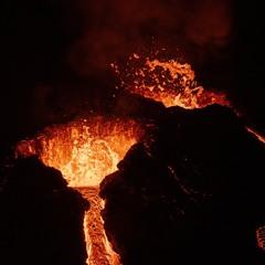 Geldingadalur, Volcano eruption, Reykjanes peninsula, Iceland, March 2021