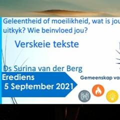 5 September 2021 Erediens Olv Ds Surina Van Der Berg