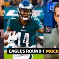 PHILADELPHIA EAGLES 2021 MOCK DRAFT | EAGLES FRONT OFFICE DRAFT | EAGLES NFL DRAFT RUMORS