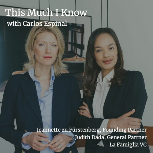 La Famiglia's Jeannette zu Fürstenberg and Judith Dada on the Picasso painting that is a startup