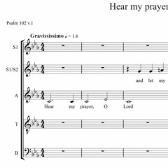 Hear My Prayer O Lord - Henry Purcell (~1.6 bpm)