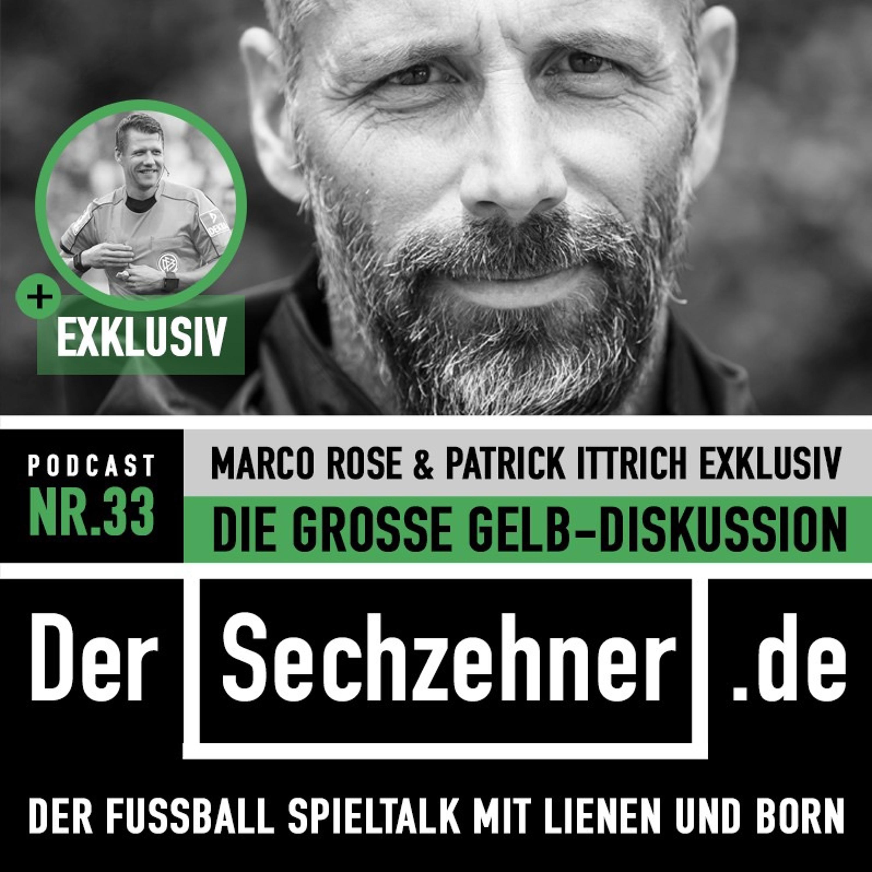 Die Gelb-Debatte: Marco Rose und Patrick Ittrich im Sechzehner No.33