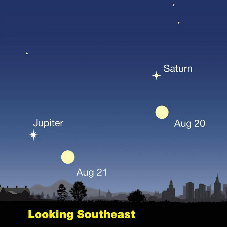 8/16/21 - The Moon and Jupiter