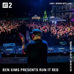 BEN SIMS Pres RUN IT RED 80. AUG 2021