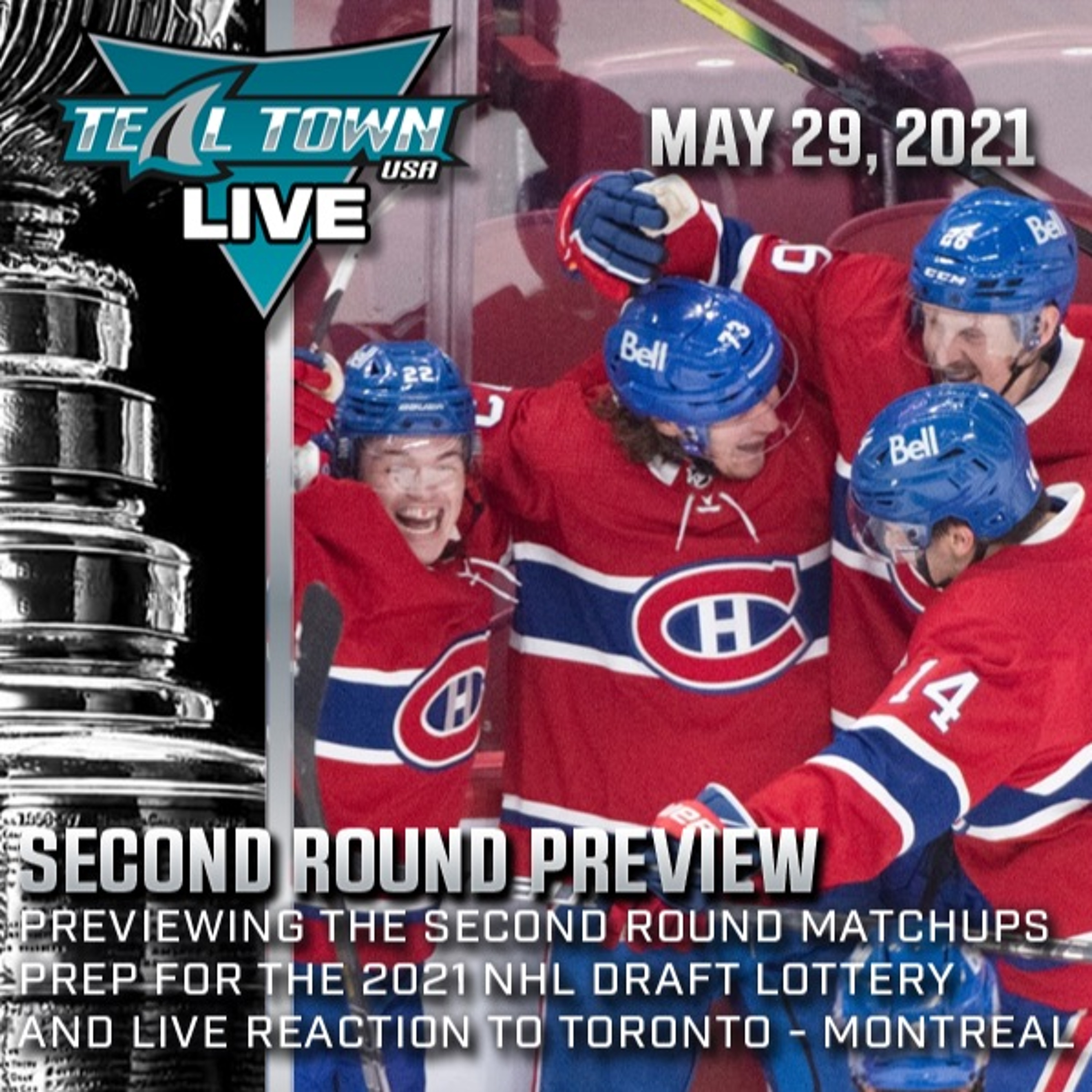 2021 NHL Stanley Cup Playoffs Second Round Preview - 5-29-2021 - Teal Town USA Live