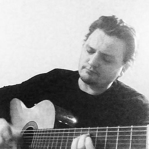 Medelålders män med gitarrer
