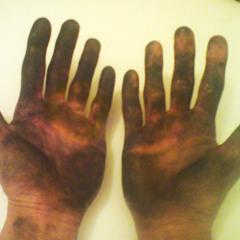 resin hands