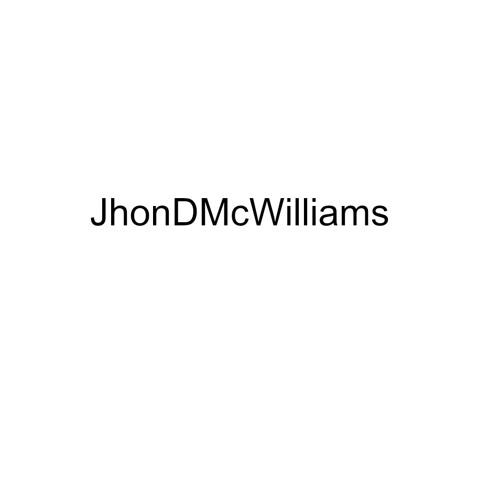 John D. Mcwilliams III's avatar