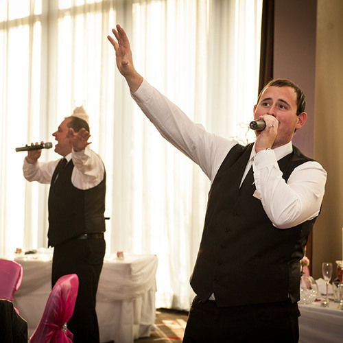 Fly me to the moon- Your singing waiters