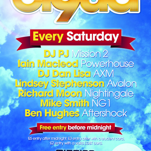 CLOUD 9 - Every Saturday's avatar